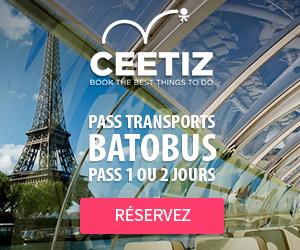 Ceetiz - Batobus - Croisière avec arrêts multiples - Pass 1 ou 2 jours